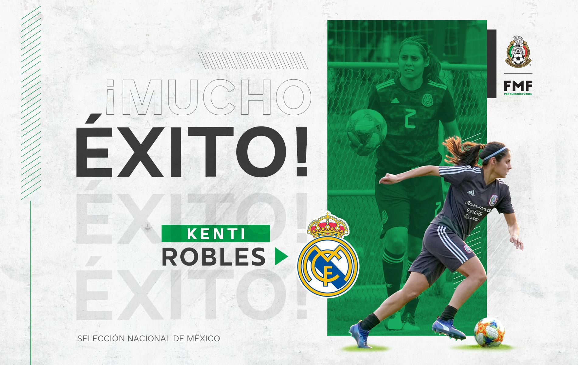 Kenti Robles jugará en el Real Madrid