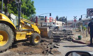avenida industrial, obras bacheo, ayuntamiento de Tijuana,