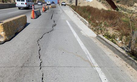 hundimiento, carretera a Playas de Tijuana, Protección Civil de Tijuana,