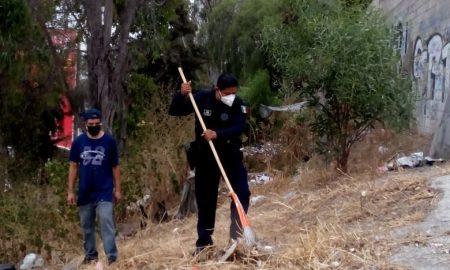 jornada de limpieza, policías municipales, Zona Centro,