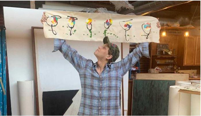 Michael Gittes, artista, pinturas, flores, médicos, personal, hospital, covid-19, coronavirus