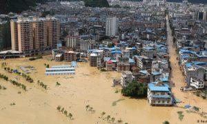 Wuhan, China, inundaciones, desastre, siniestro, muertes, víctimas, calentamiento global