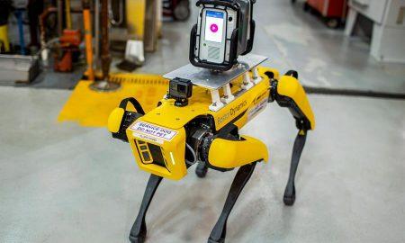 Ford, perros, robots, digital, plantas, tecología