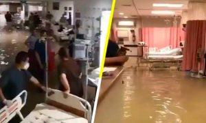Hanna, inundación, Hospital, Materno, Reynosa, Tamaulipas, lluvia tropical