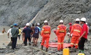 mineros, yacimientos, Myanmar, muerte, accidente, Birmania