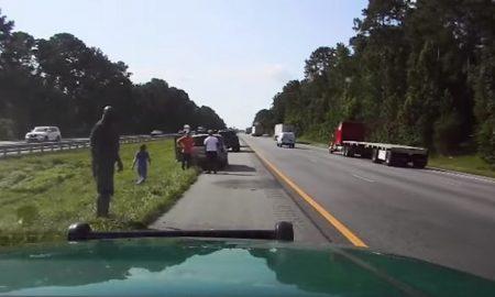 Shaquille O'Neill, ayuda, mujer, choque, Florida, policía, accidente, ayuda, altruismo