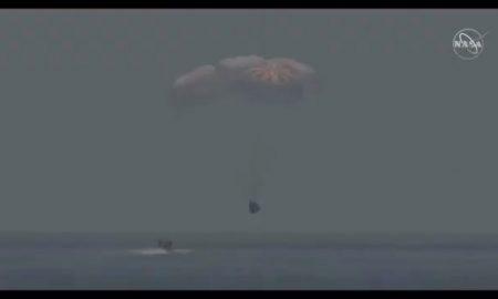 Aterrizaje, nave, SpaceX, Dragon, Doug Hurley, Bob Behnken