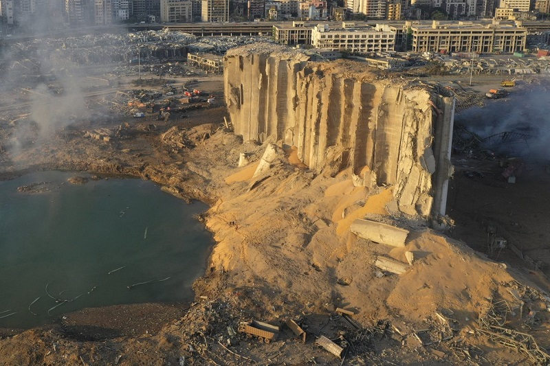 Beirut, explosión, protestas, nitrato de amonio,