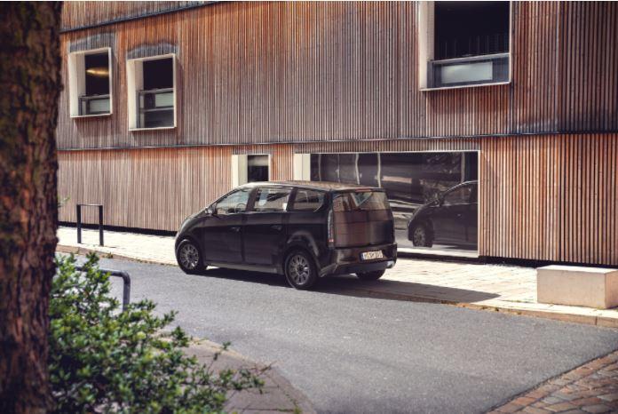 Carro, auto, páneles solares, energía, energía limpia