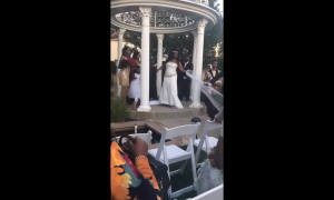 embarazada, interrumpe, boda, video viral, EEUU, lo viral