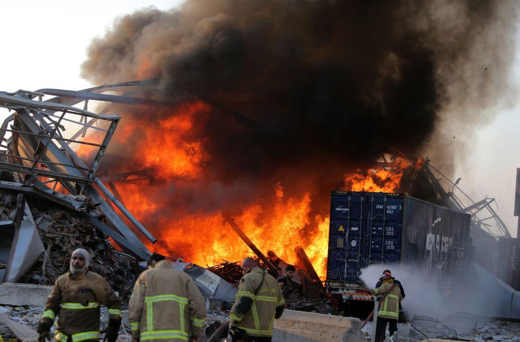 Puerto de Beirut, heridos, muertos, explosión, fuegos artificiales