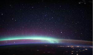 Fenómeno, galaxia, foto, planeta, Tierra, estación espacial, espacio
