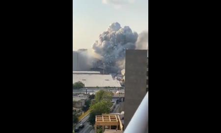 explosión, fuegos artificiales, accidente, puerto de Beirut, video viral, internacional