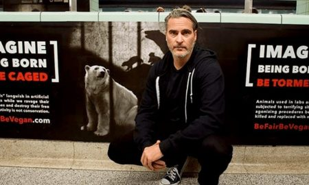 Joaquin Phoenix, campaña, veganismo, crueldad animal, PETA, EEUU