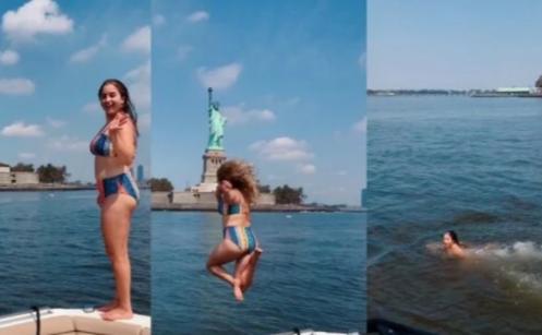 joven, río, Nueva York, Río Hudson, contaminación, bacterias, polémica