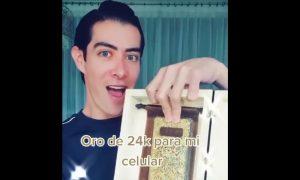 Mario Sierra, bloger, protector, celular, oro, Olinalá, cristales de swarovski