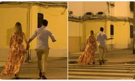 joven, tacones, novia, pareja, caminata, amor