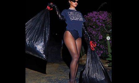 Rihanna, cantante, fotos, basura, sesión fotográfica, revista Harper's Bazaar US