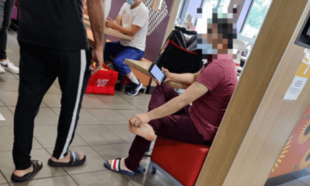 repartidor, McDonald's, pies, antihigiene, indignación, Reino Unido, comida rápida