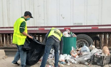 Garita de Otay, acumulación de basura, jornada de limpieza,