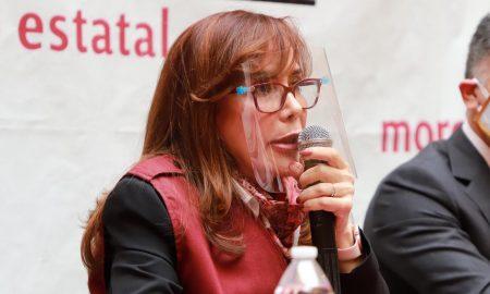Yeidckol Polevnsky, Morena, candidata, Presidencia, Puela, reunión, política