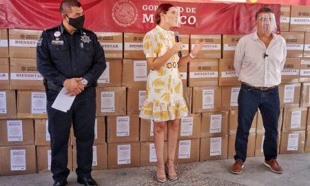 Marina del pilar, entrega, despensas, Ruiz Uribe
