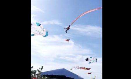 Cometa, Taiwán, Niña, Volando