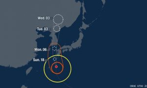 Corea,Tifón,Japón