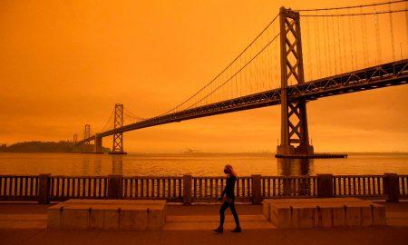 incendio, foresta, california, naranja