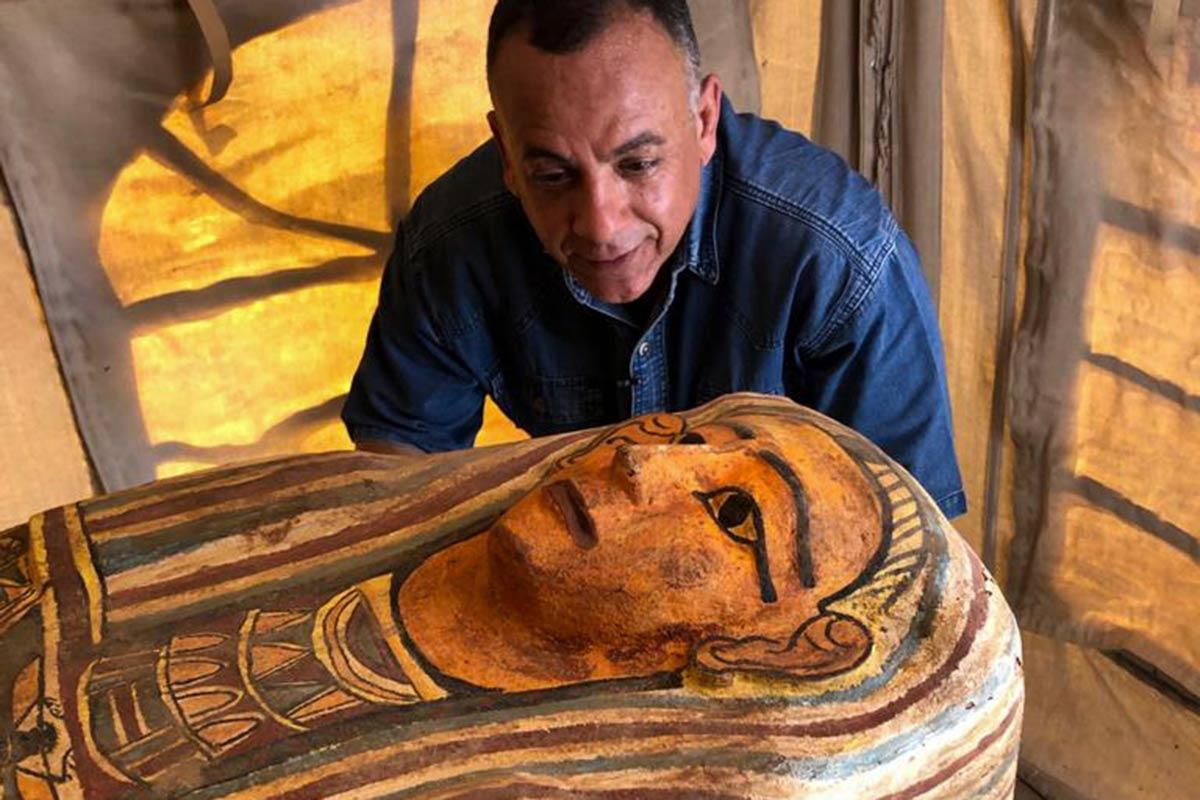 sarcófago, tumba, egipto