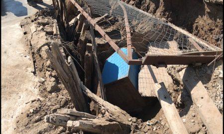 fuga de agua, inundacion, colonia Villa Urrutia, CESPT,