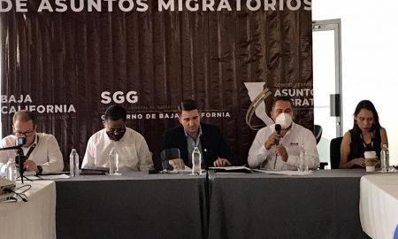 Reunión, migrantes, autoridades