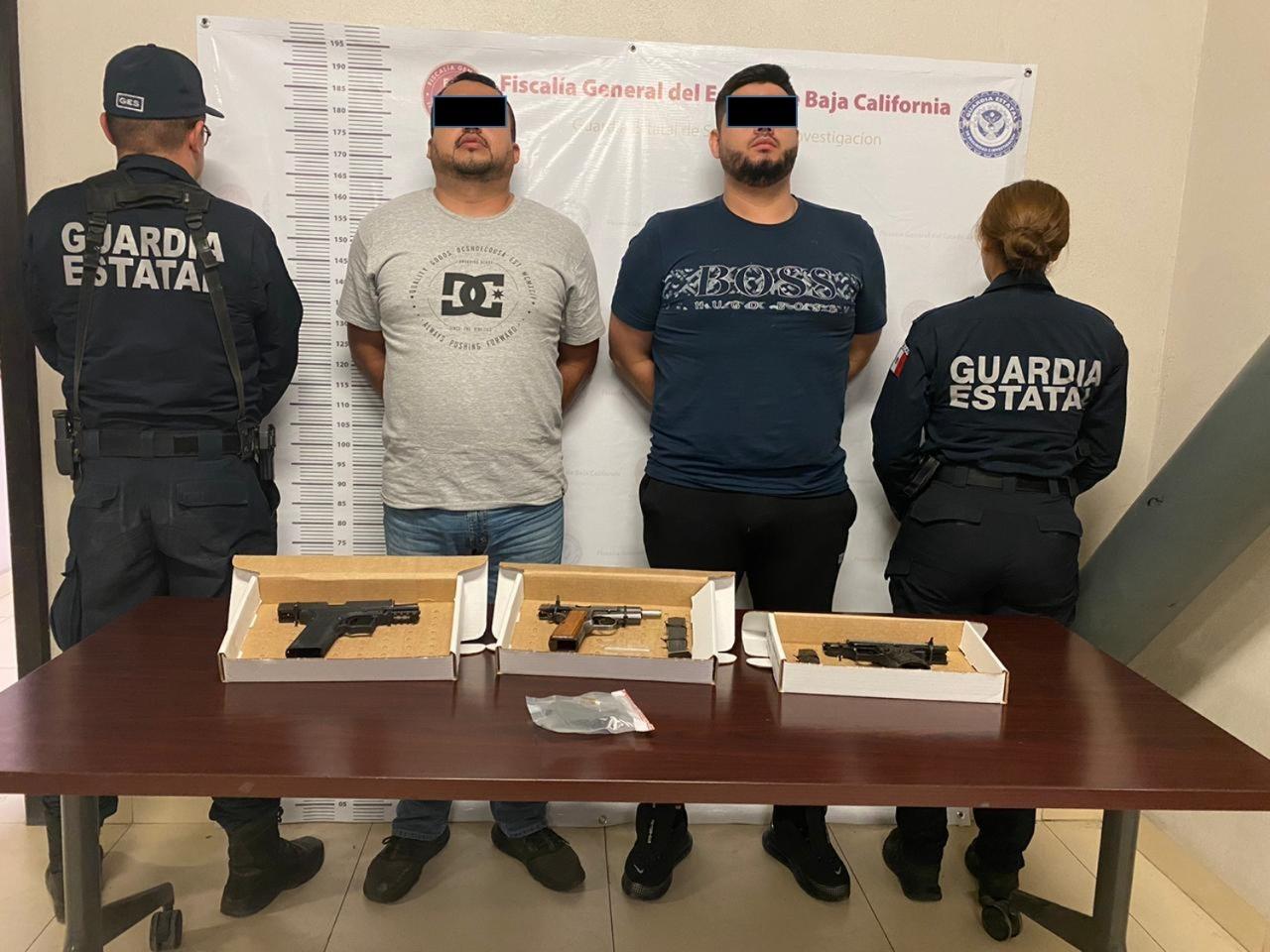 detenidos,FGE,posesión arma de fuego