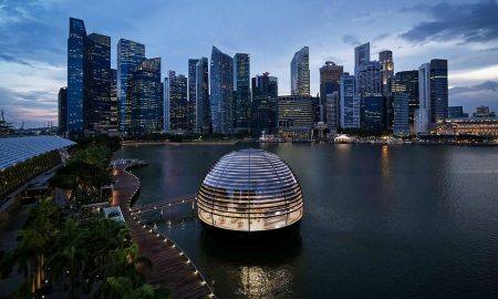Apple Inc., tienda, Tecnología, iPhone, vidrio, Singapur