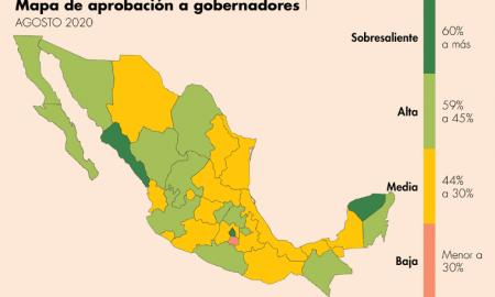 Jaime Bonilla, encuesta nacional, gobernación, ranking, aprobación, México