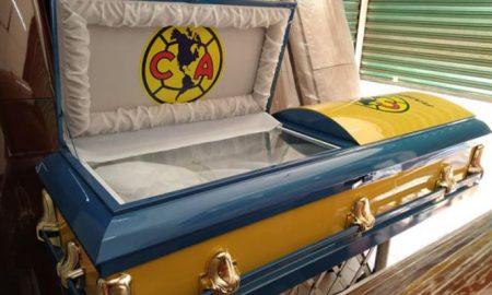 Funeraria, ataúd, América, equipo, futbol