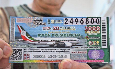 hospitales públicos, rifa, avión presidencial, Lotería Nacional