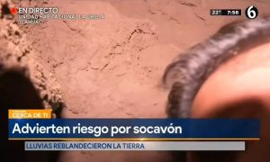 Camarógrafo, socavón, caída, Tláhuac, transmisión, en vivo