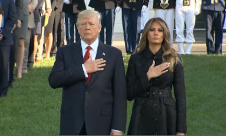 Donald Trump, ceremonia, conmemoración, terrorismo, ataque, Nueva York, EEUU