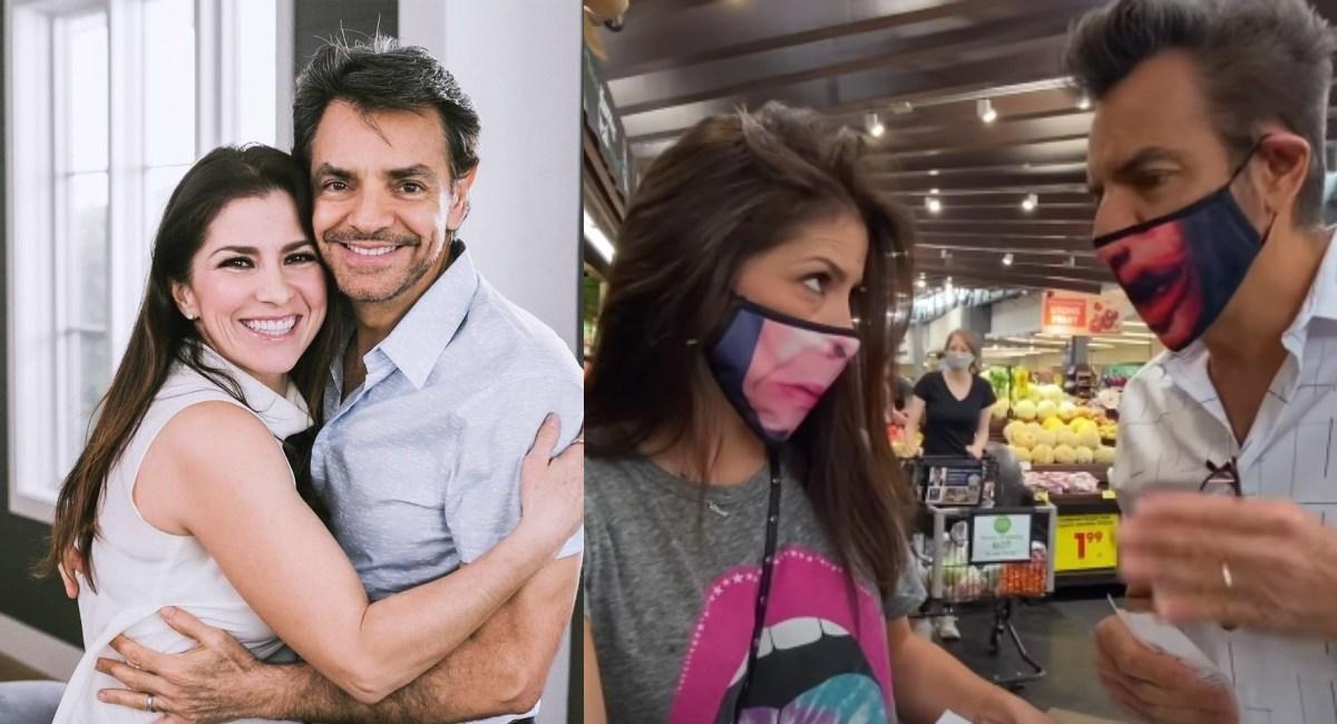 Eugenio Derbez, Alessandra Rosaldo, discusión, supermercado, video, polémica