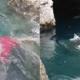 video viral, Nuevo León, corriente, pareja, TikTok
