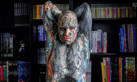 hombre tatuado, tatuajes, Kínder, maestro, educación, Francia