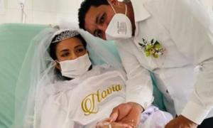 matrimonio, boda, fallecimiento, cáncer, video viral