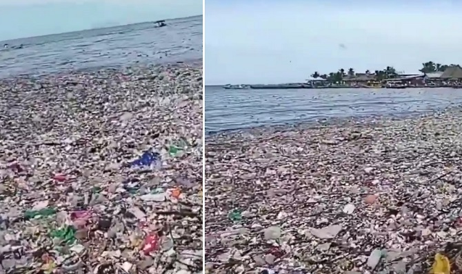 playas, basura, Honduras, contaminación, playas de Omoa, mar Caribe,
