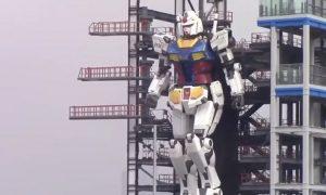 Robot, Gundam, Japón, tamaño real, prueba, pasos, video viral