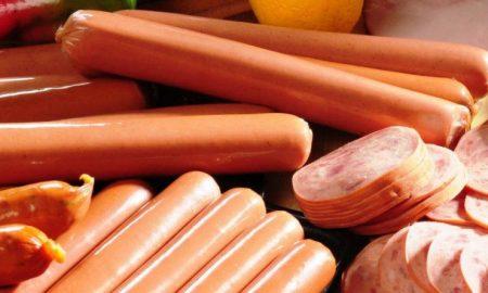 salchichas, supermercado, carne, alimentación, almidón