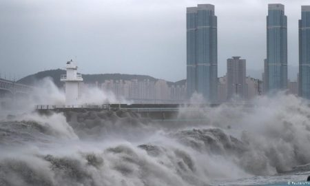 Tifón Haishen, Japón, Corea el Sur, siniestro, desaparecidos
