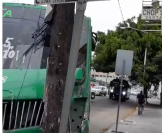 accidente, Zona Centro, transporte público,