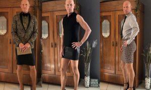 hombre, tacones, falda, vestimenta, estereotipos, viral