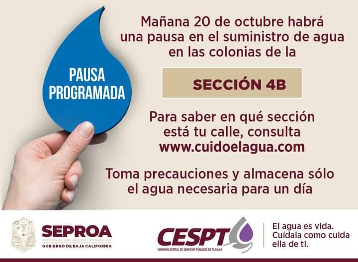 cespt, agua, colonias, 4B